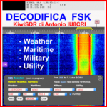 Ricezione e decodifica FSK con KiwiSDR di Antonio IU8CRI su Antenna MORGAIN