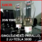 AMPLIFICATORE 20+20 W RMS SINGLE ENDED PARALLEL CON 2X2 JJ-TESLA 300B
