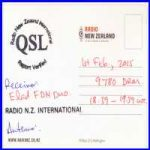 QSL Radio New Zealand International DRM 9780 KHz