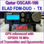 ELAD FDM-DUO OSCAR 100 GPS referenced with GPSDO 10 MHz of transmitter and upconverter